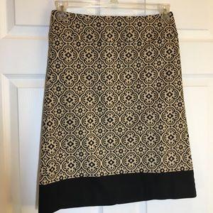 Talbots Tan and Black Skirt Size 4